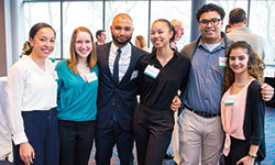 Photo of attendees of scholarship reception