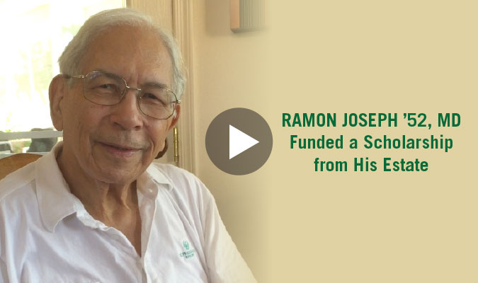 Video: Ramon Joseph 52, MD Funded a Scholarship from His Estate